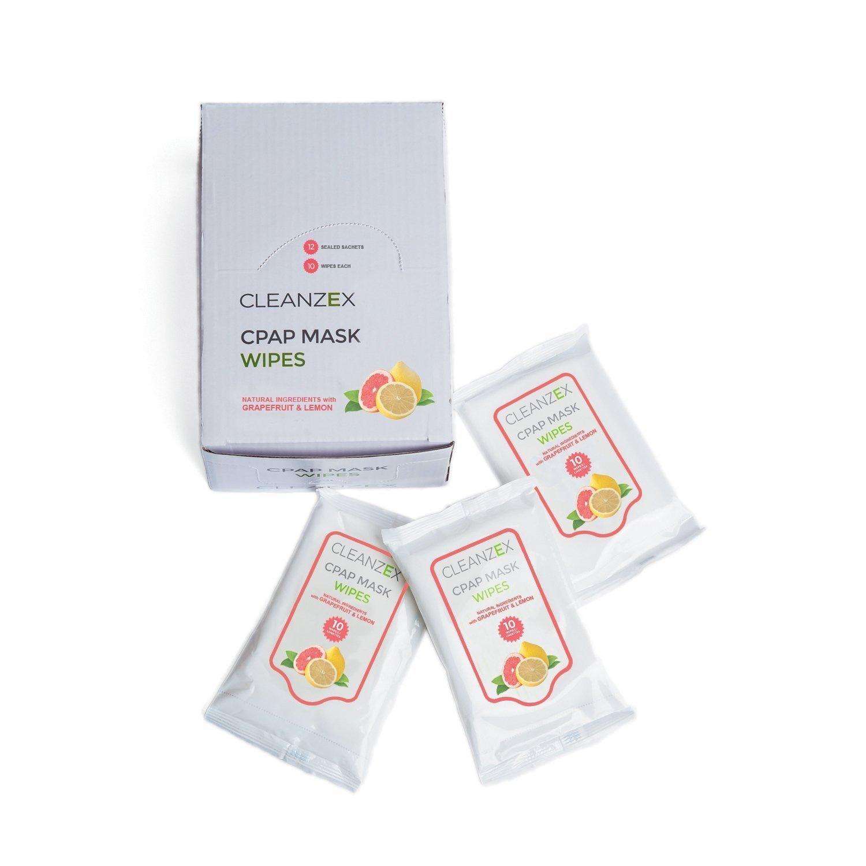 Purdoux PÜRDOUX 100% Cotton CPAP Mask Wipes with Grapefruit Lemon Scent (Box of Total
