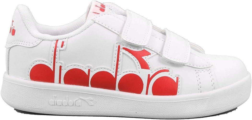 Diadora Game P Bolder PS Sneakers Bianco Rosso 176275 C0823