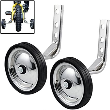 Training Wheels Heavy Duty Rear Wheel Bicycle Stabilizers Mounted Kit 1 Pair...