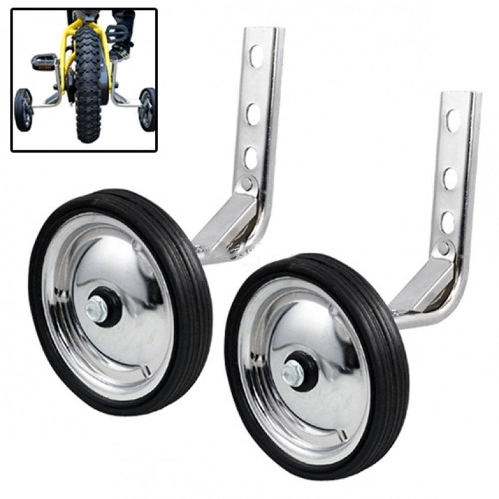 Little World Training Wheels Heavy Duty Rear Wheel Bicycle Stabilizers Mounted Kit Compatible for Bikes of 14 16 18 Inch 1 Pair