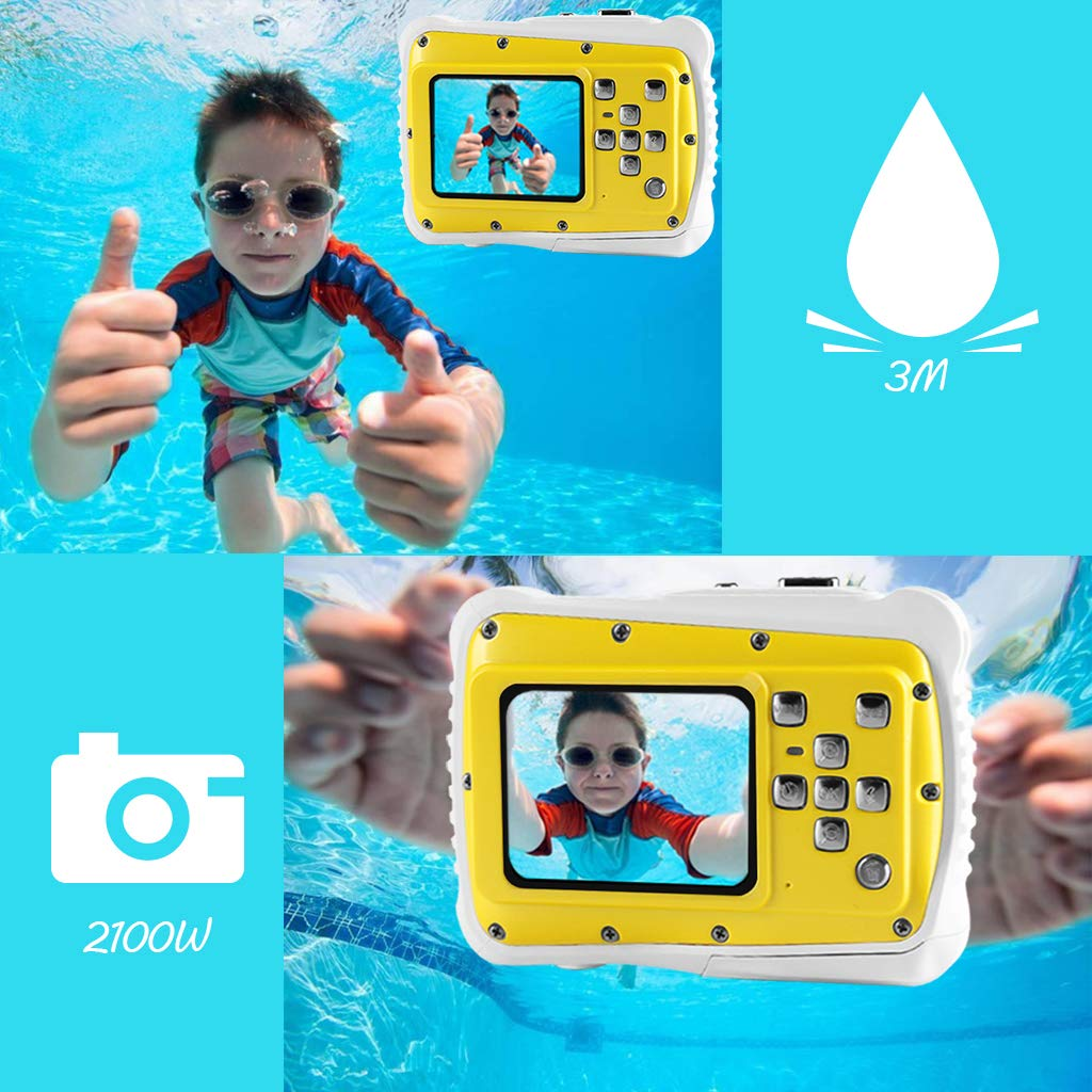 Underwater Camera for Kids, Waterproof Digital Camera Children Gift Mini Action Sport Camcorder 12MP HD/2.0 Inch LCD Display/8X Digital Zoom with 8GB SD Card & Batteries by Jamal (Image #4)