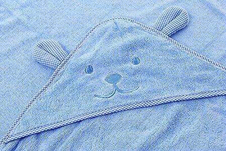 mism bebé con capucha toalla de baño para bebé, color rosa, azul, verde, amarillo (A): Amazon.es: Bebé