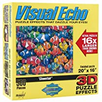 Visual Echo 3D Effect Clownfish 500pc Puzzle S1