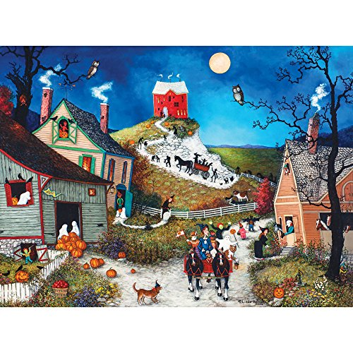 Bits and Pieces - 300 Piece Jigsaw Puzzle for Adults - Halloween, Boo! 300 - 300 pc Jigsaw by Artist Linda Nelson -