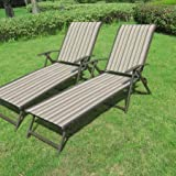 Deck Lounge Chair Mainstays Fair Park Sling Folding Lounge Chairs, Set of 2, Solid Stripe (Multi-Stripe)