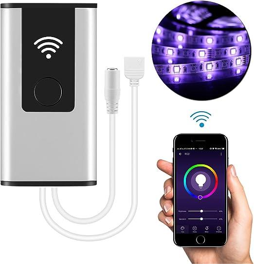 Controlador inteligente WiFi inalámbrico LED para 5050/3528 RGB ...