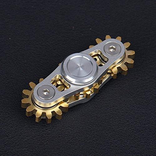 metal-fidget-spinner-brass-gear-stainless-steel-bearings-aluminum-body-finger-spinner-toy-stress-red