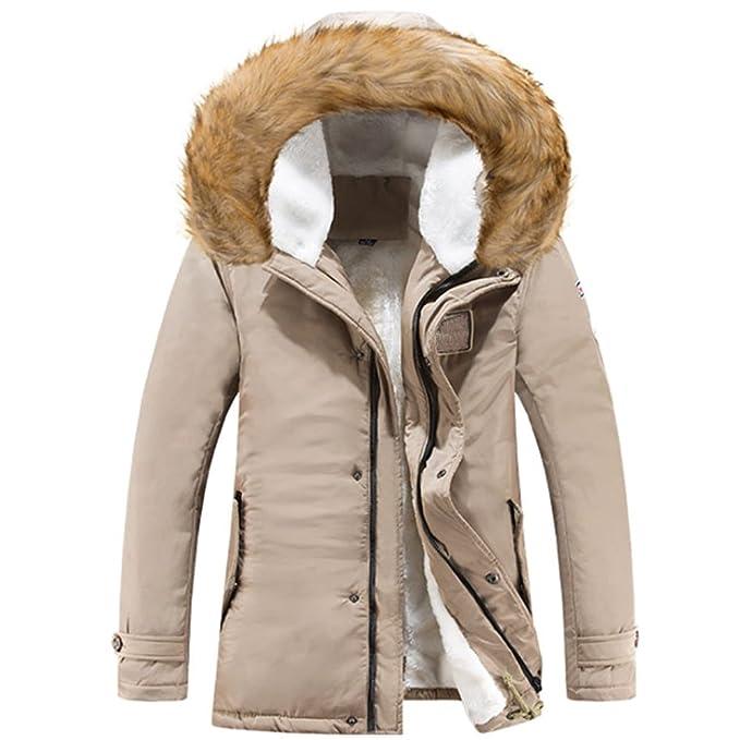 KINDOYO Uomo Autunno Invernali Giacca Cappuccio Vento Imbottita Moda Cappotto  Parka Caldo Giubbotto Lunga Cappotti Outwear 1bb62f440f7