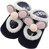 Jimmackey Neonato Unisex Fumetto 3D Orecchie Scarpe Calzini Pantofola Bambino Anti-Scivolo Pavimento Calzini Morbide Stivali