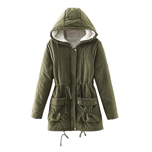 Luckycat Abrigo de Invierno cálido para Mujer Bolsillos sólidos con Capucha Abrigos de Gran tamaño Vintage: Amazon.es: Ropa y accesorios