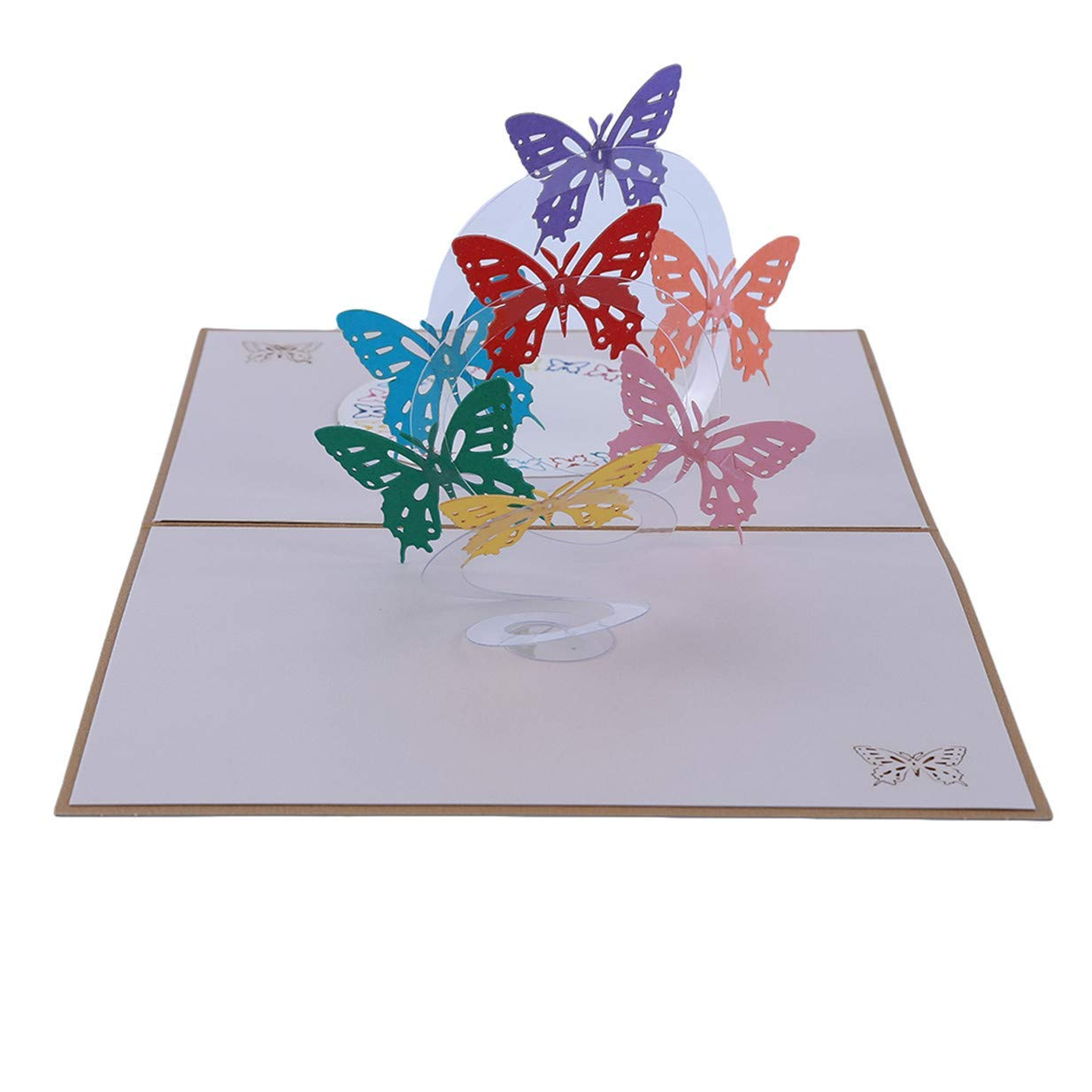 3D Hollow Colorful Butterfly Style Creative Blessing Greeting Card Xeminor