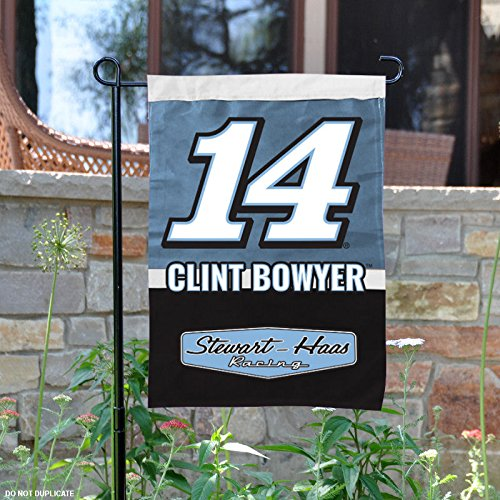 Nascar Garden Flag - Clint Bowyer #14 Two Sided Garden Flag