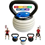 ?Storlek?5-20 kg?Justerbara kedjelampor med handtag för män kvinnor, vattenkokare klocka vikter set styrka träning…