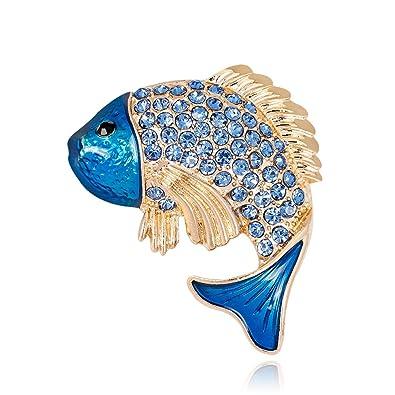 Amazon.com: Ailuor - Broche con diseño de delfín azul ...