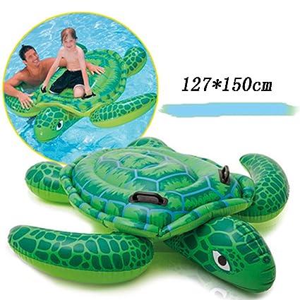 WLWWY Monturas De Tortuga Verde Inflable Gigante, Boya De Vida, Piscina Al Aire Libre