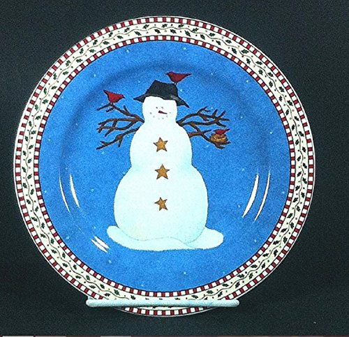 (Sakura Snowman with Red Birds Salad Plate Debbie Mumm)