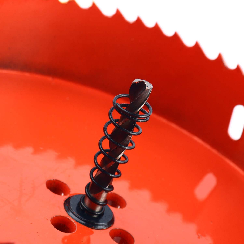 SurePromise Kit de forets pour scie cloche Diam/ètre tr/ès r/ésistant Outil de d/écoupe Bim/étal Scie cloche pour bois aluminium fer et tuyau en plastique rouge