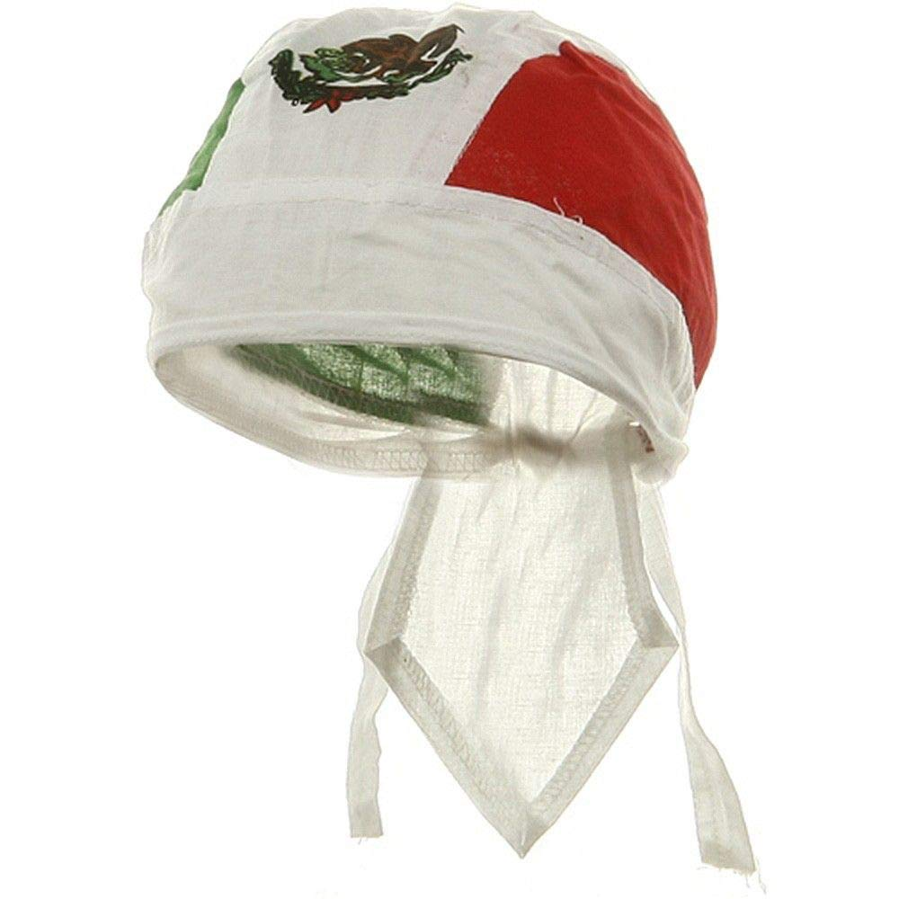 Mexican Flag Bandana Wrap Cotton Motorcycle Mexico Do Rag Buy Caps and Hats HW-MEXFLAG-1