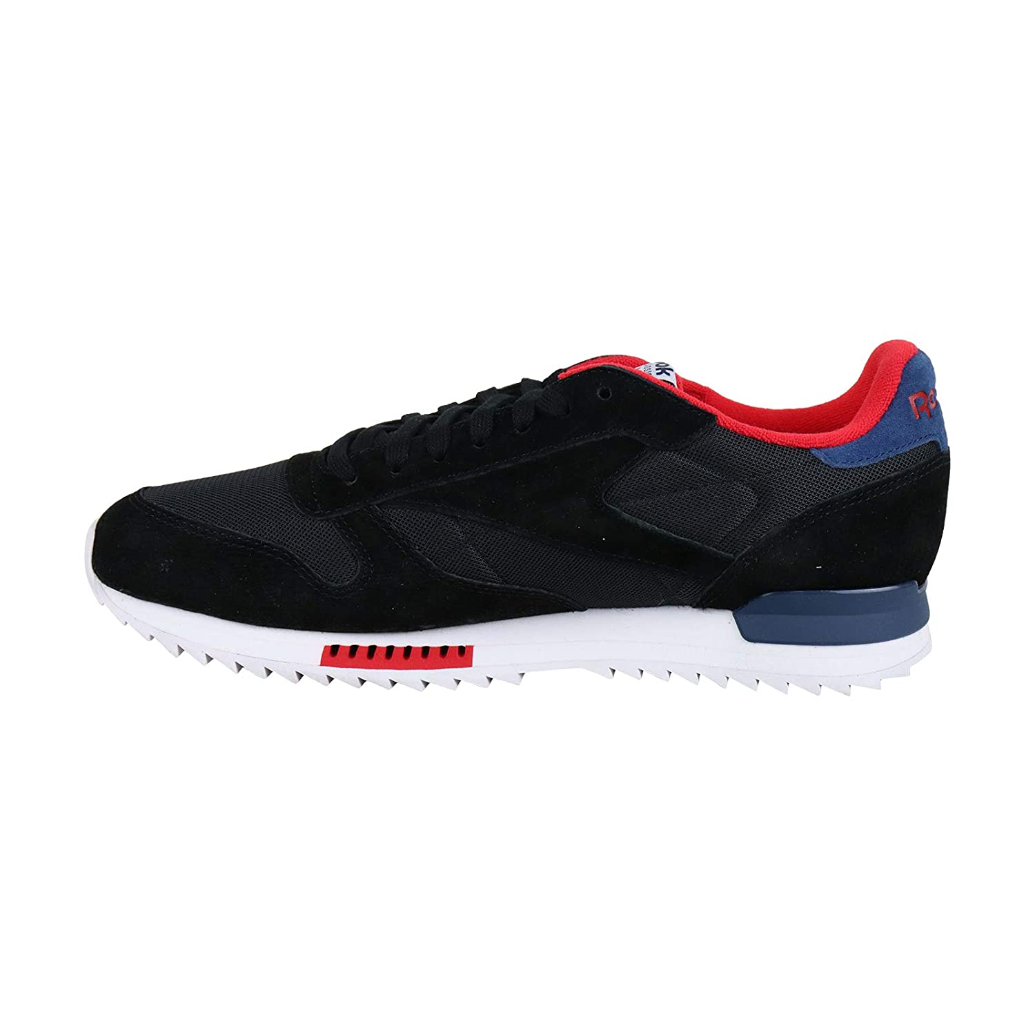 Reebok Classic Leather Ripple Clip Mens Black Suede//Mesh Sneakers Shoes
