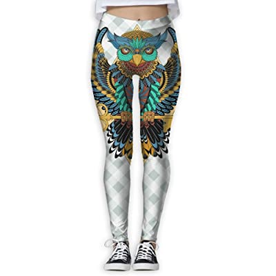 Owl Coloring 6 Women's Compression Pants Sports Leggings Tights Baselayer Trousers For Yoga&Fitness