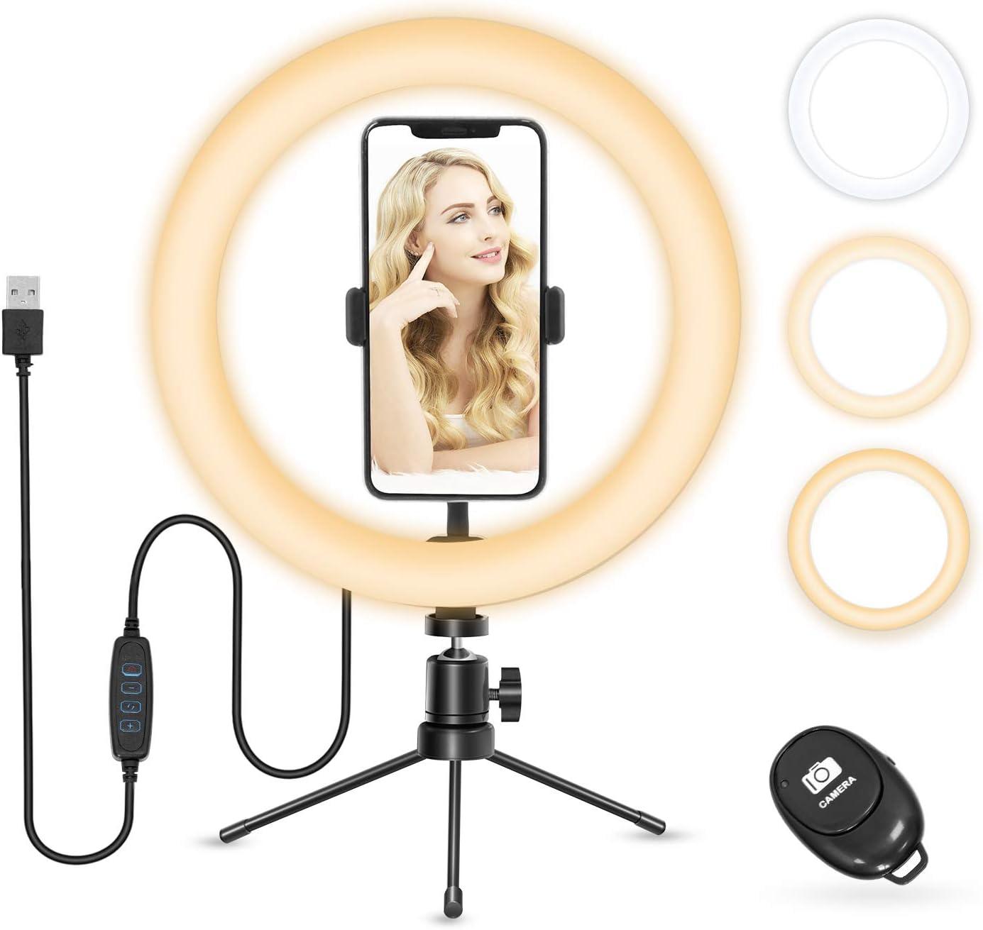 Ringlicht Vamvo Ringleuchte 10 Selfie Led Ring Licht Kamera