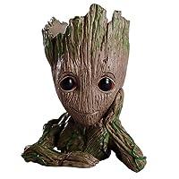 Treeman Baby Groot Flowerpot, Creative Guardians of The Galaxy Groot Planter Pen...