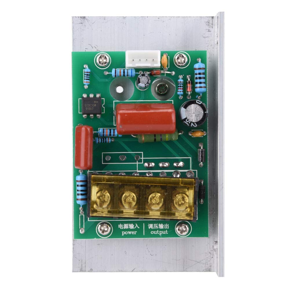 AC 220V 6000W Adjustable SCR Digital Voltage Regulator Electric Motor Speed Control Dimming Dimmer Thermostat Module by Wal front (Image #4)
