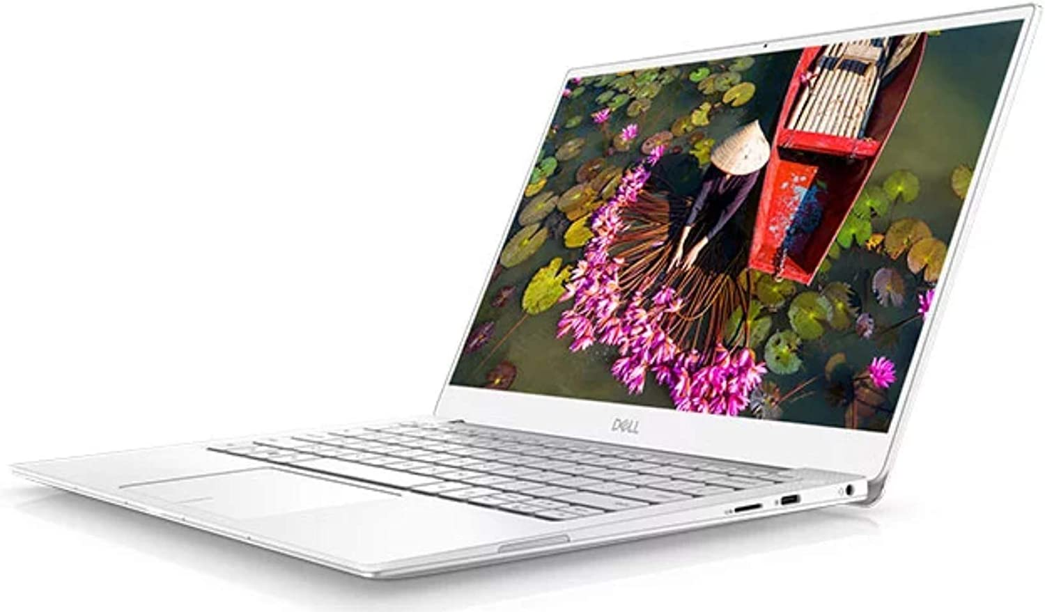 "Dell XPS 9380 Laptop, 13.3"" 4K UHD (3840x2160) Touchscreen, Intel Core 8th Gen i7-8565U, 16GB RAM, 512 GB PCIe SSD, Windows 10 Home, Frost White (Renewed)"