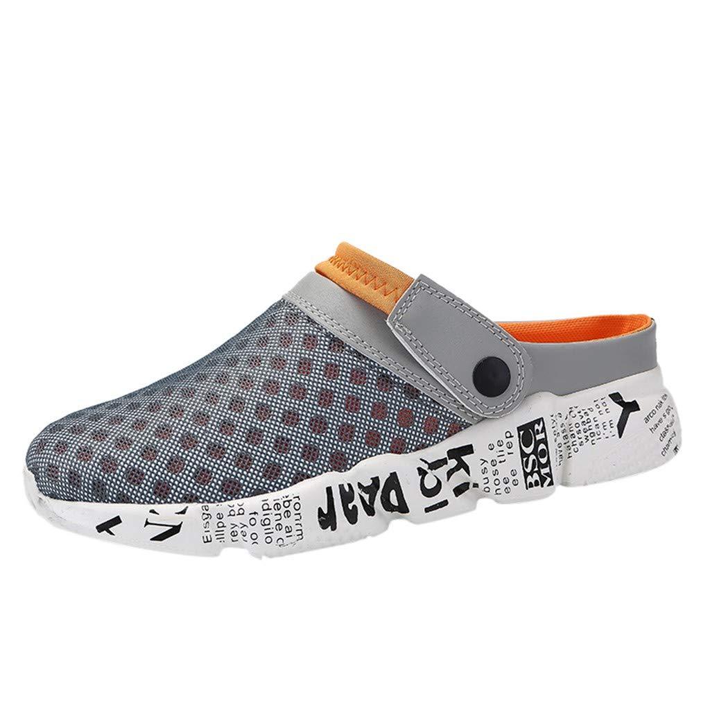 St.Dona/_Shoes Men Sandals,Unisex Summer Breathable Durable Mesh Shoes Outdoor Beach Aqua Walking Anti-Slip Beach Slippers
