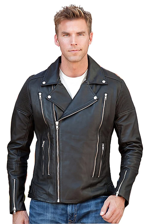 Laverapelle Men's Lamb Skin Real Leather jacket Black- 1510640