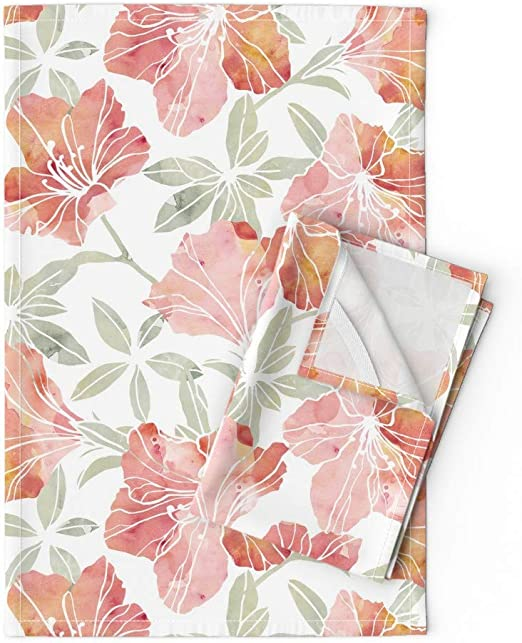 Pack Of 3 Printed Tea Towels Kitchen Vintage 100/% Cotton Floral Teddy Cleaning
