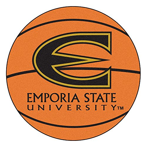 - NCAA Emporia State University Hornets Basketball Shaped Mat Area Rug