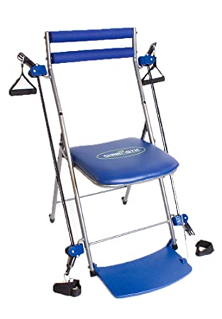 chair gym multi gym fitness chair full body slimming toning workout blue