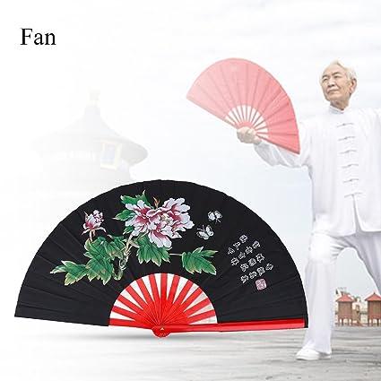 Amazon com: Chinese Fan Tai Chi Kung Fu Folding Fan Martial Arts