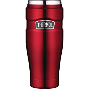 Thermos Stainless King 16-Ounce Travel Tumbler, Cranberry