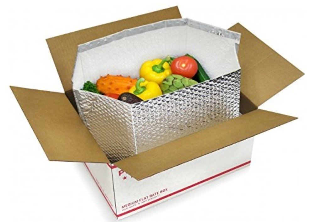 5 Pack Foil Insulated Box Liners 12 x 10 x 9 Thermal Box liners. Bottom Gusseted Box Liners for shipping food, pharmaceuticals, biotech, cosmetics. Moisture resistant.