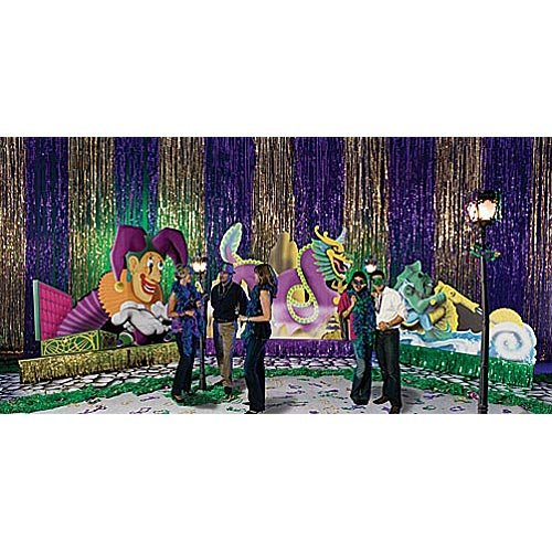 5 ft. to 8 ft. Mardi Gras Madness Float Standee (Custom Scene Setters)
