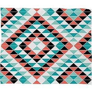 Deny Designs Jacqueline Maldonado Tribal Triangles 1 Fleece Throw Blanket, 30 x 40