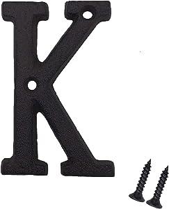 3 Inch House Letters, Cast Iron Mailbox Letter/Home Address Letter, Letter K