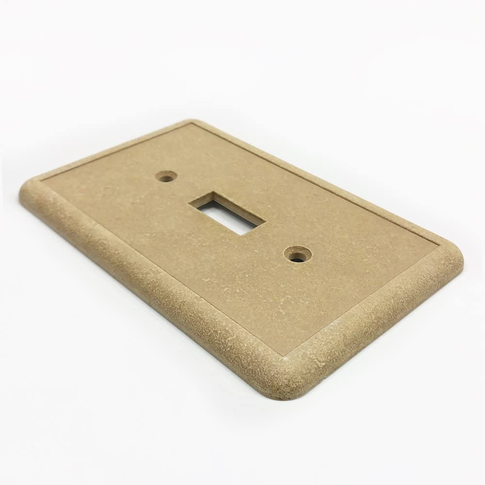 Questech Travertine Tumbled Textured Wall Plate Switch Plate Outlet Cover Double Toggle Switch