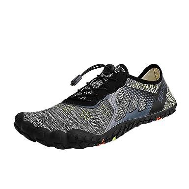 BaZhaHei Mujer Zapatillas Zapatos de Agua de Secado rápido Unisex Zapatos con cordón para Nadar en ...