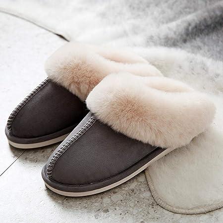 YUTJK Unisex Pantofole da casa Inverno Peluche Memory Foam