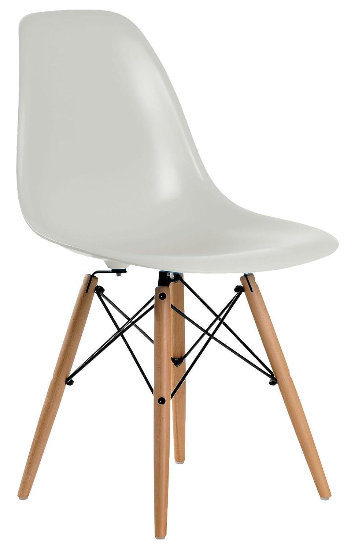 Aryana Home Eames Replik – Set Stühle, 51 x 46,5 x 81,5 cm 51x46.5x81.5 cm grau