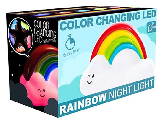 Colour Changing Rainbow Cloud Mood Night Light with a 15 Minute