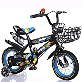 sheng Child bike 3-10year old boy girl baby carriage 12-18 inch baby baby bike ( Color : B+B , Size : 16inch )