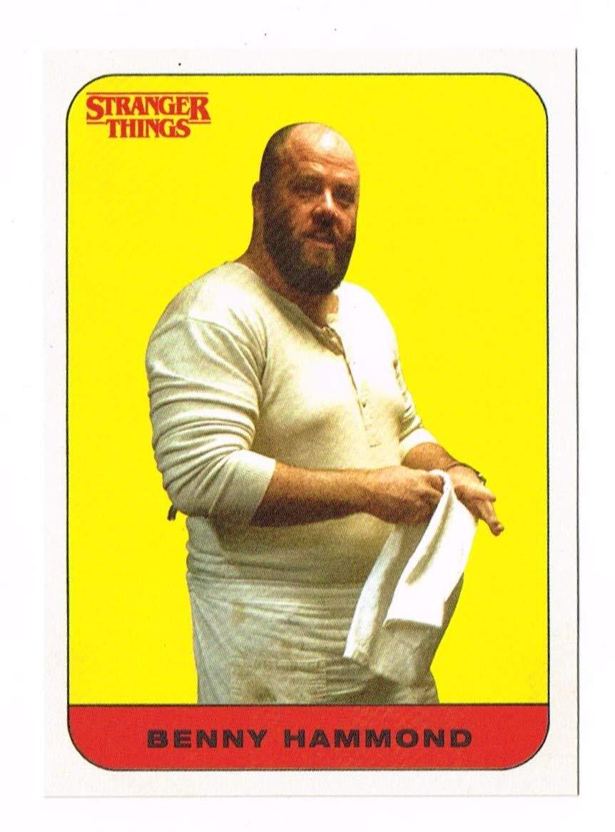 2018 - Stranger Things - Sticker Card - # 19 - Benny Hammond - Topps - Series 1 - One - Trading Card - Chris Sullivan