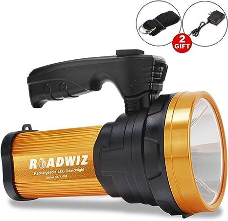 Roadwiz Recargable 6000 Lúmenes Super Brillante Reflector LED ...