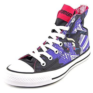 ab6b77be03cf Converse Unisex Chuck Taylor All Star Hi Catwoman Sneaker Black Multicolor  (6 B(