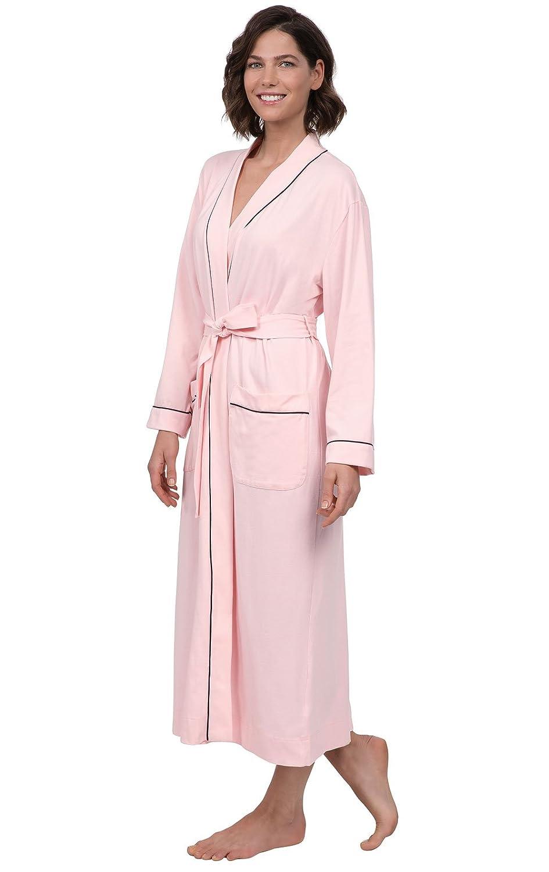 PajamaGram - Bata para Mujer - Suave y Larga - Algodón