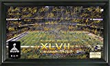 "NFL Baltimore Ravens Super Bowl XLVII Champions Celebration Signature Gridiron, Black, 21"" x 14"" x 3"""